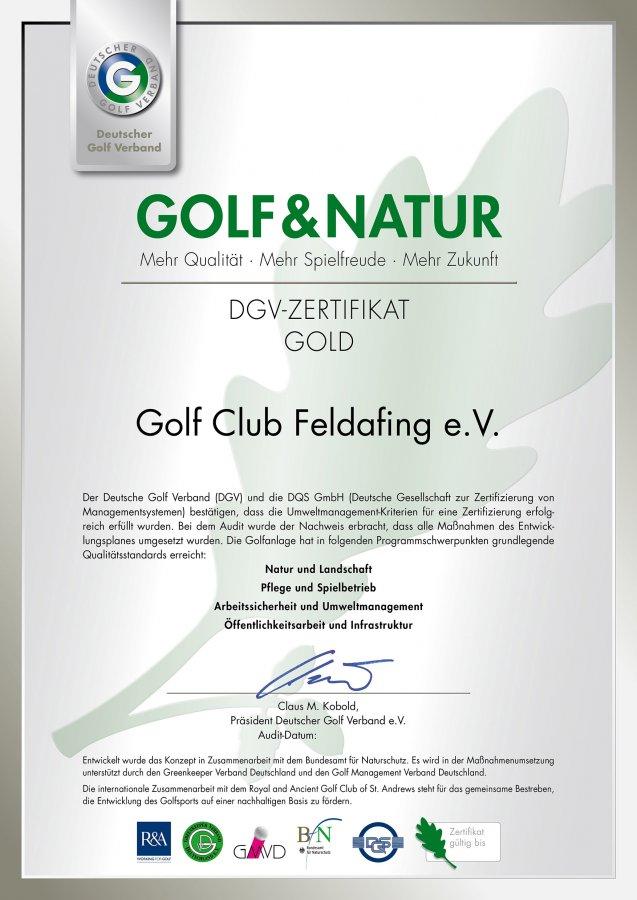 Zertifizierung - Golfclub Feldafing