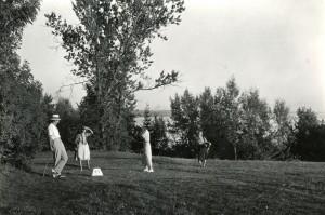 1930 Historisches Golfspiel im Golf-Club Feldafing
