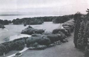 1934 Blick ueber den Golfplatz